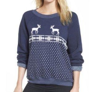 WILDFOX Nordic Deer and Snowflake Sweatshirt